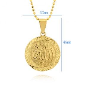 Позолоченный кулон «Аллах» (32мм, круглый) Image 1