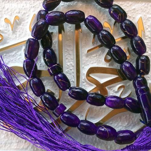 Субха - мусульманские четки, фиолетовые Image 1