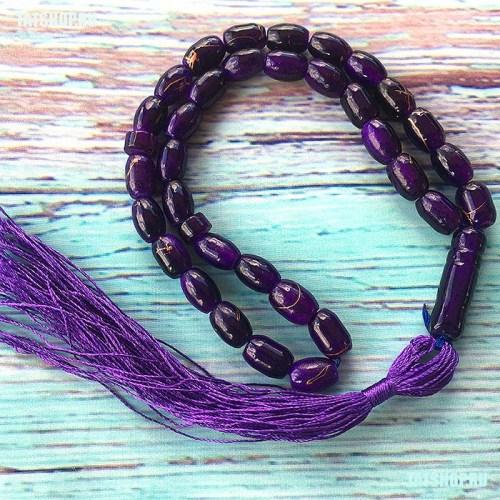 Субха - мусульманские четки, фиолетовые Image 0