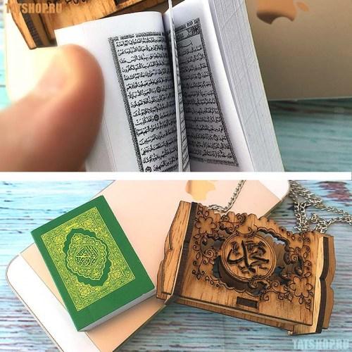 Миниатюрный Коран в деревянном футляре, на цепочке Image 1