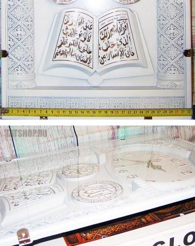 Большие, мусульманские настенные часы белого цвета (звуковые) Image 3
