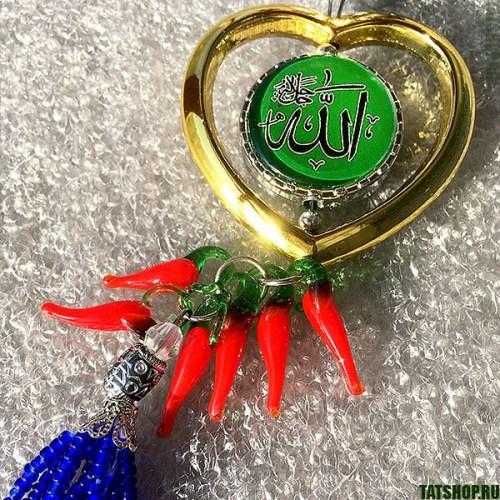 Мусульманская подвеска в авто с глазом Фатимы (сердечко) Image 2